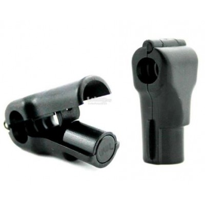 Rayon Lock 6 mm Noir - Fermeture Normal Lock