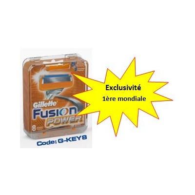 Boîtier Antivols pour 8 lames de rasoirs- Fusion Power G-key8