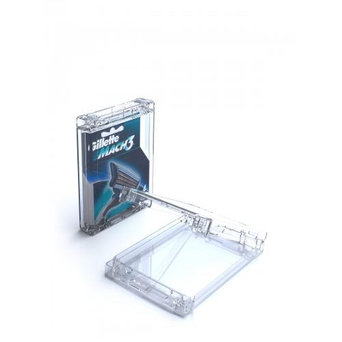 Boîtier Antivols pour 4 lames de rasoirs- modèle T-CBLS
