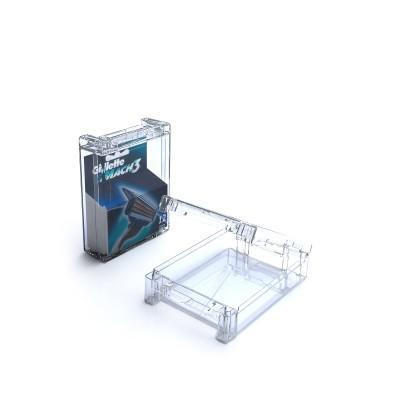 Boîtier Antivols pour 12 lames de rasoirs- modèle T-CBLL